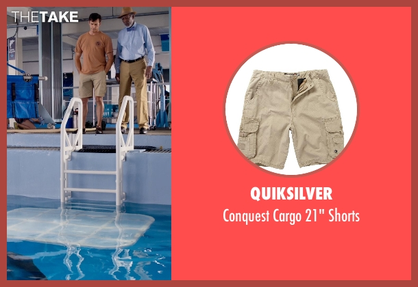 Quiksilver beige shorts from Dolphin Tale 2 seen with Harry Connick Jr. (Dr. Clay Haskett)
