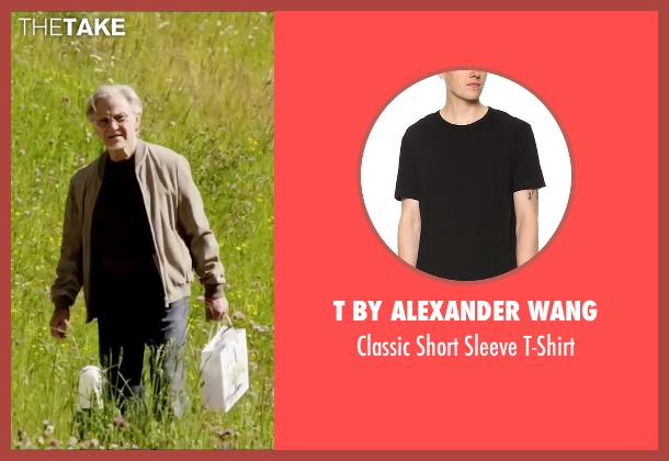 T By Alexander Wang black t-shirt from Youth seen with Harvey Keitel (Mick Boyle)