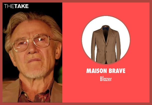 Maison Brave brown blazer from Youth seen with Harvey Keitel (Mick Boyle)