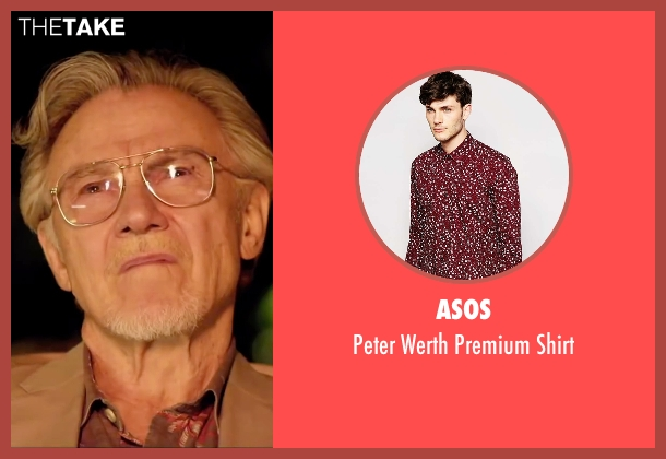 Asos red shirt from Youth seen with Harvey Keitel (Mick Boyle)