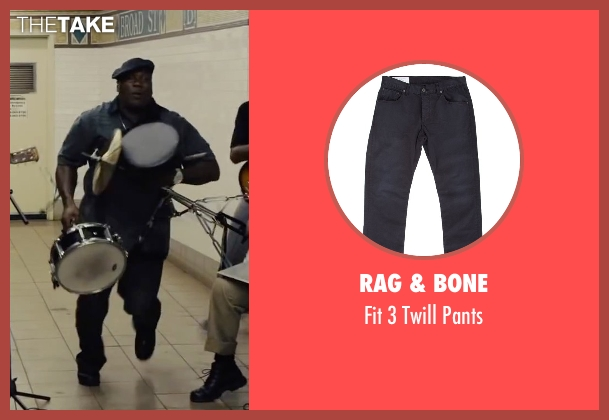 Rag & Bone black pants from Begin Again seen with Harvey Morris (Troublegum Posse 2 - Phat Jimmy)