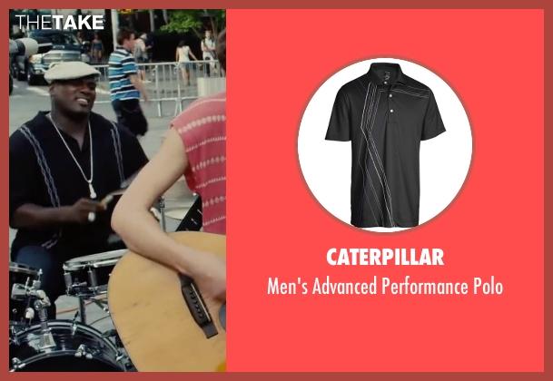 Caterpillar black polo from Begin Again seen with Mark Ruffalo (Dan)