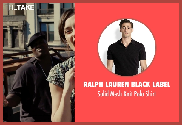 Ralph Lauren Black Label black shirt from Begin Again seen with Harvey Morris (Troublegum Posse 2 - Phat Jimmy)