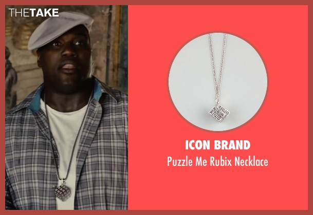 Icon Brand silver necklace from Begin Again seen with Harvey Morris (Troublegum Posse 2 - Phat Jimmy)