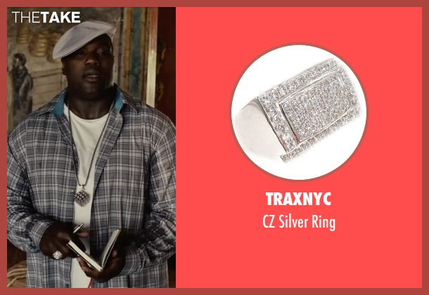 TraxNYC silver ring from Begin Again seen with Harvey Morris (Troublegum Posse 2 - Phat Jimmy)