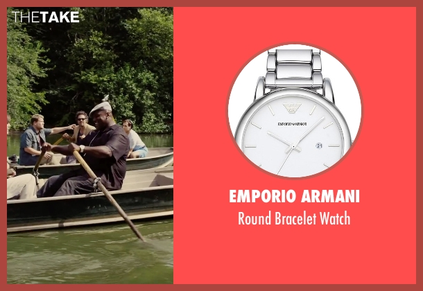 Emporio Armani silver watch from Begin Again seen with Harvey Morris (Troublegum Posse 2 - Phat Jimmy)