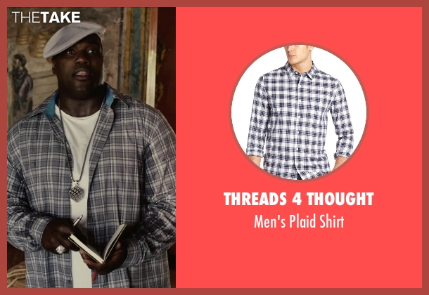 Threads 4 Thought white shirt from Begin Again seen with Harvey Morris (Troublegum Posse 2 - Phat Jimmy)