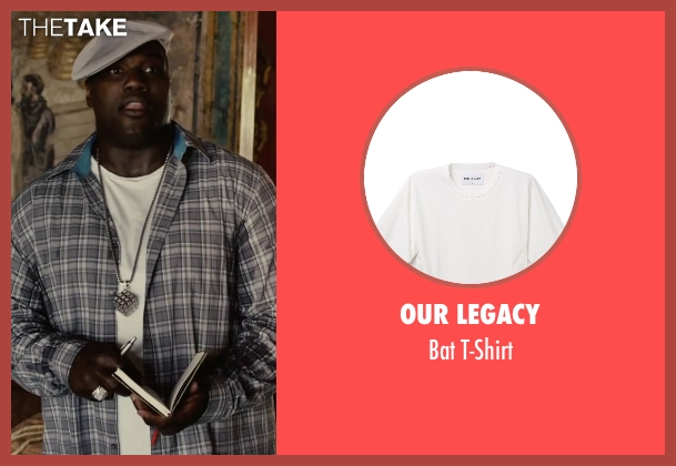 Our Legacy white t-shirt from Begin Again seen with Harvey Morris (Troublegum Posse 2 - Phat Jimmy)