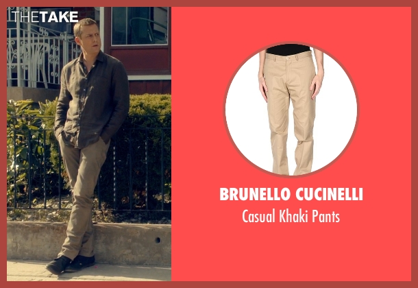 Brunello Cucinelli beige pants from Suits seen with Harvey Specter (Gabriel Macht)