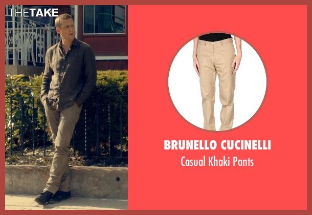 Brunello Cucinelli beige pants from Suits seen with Harvey Specter (Gabriel Macht)