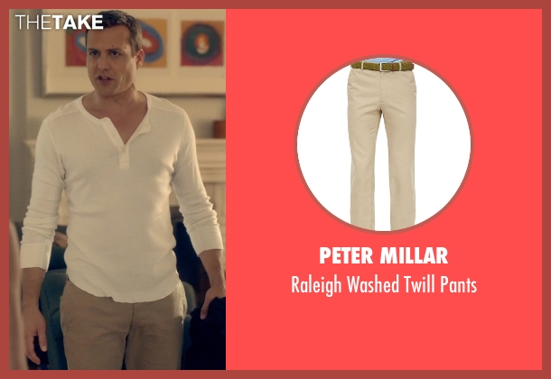 Peter Millar beige pants from Suits seen with Harvey Specter (Gabriel Macht)