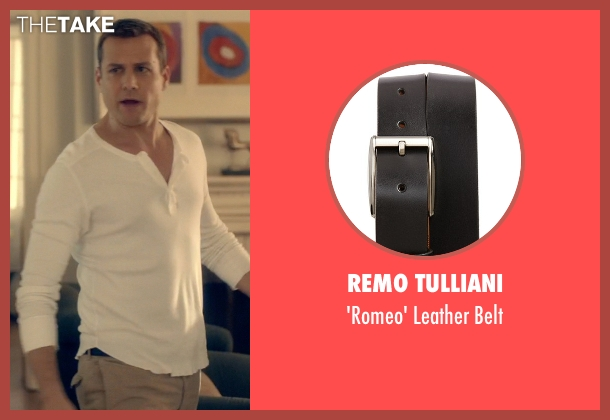 Remo Tulliani black belt from Suits seen with Harvey Specter (Gabriel Macht)