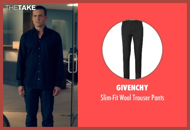 Givenchy black pants from Suits seen with Harvey Specter (Gabriel Macht)