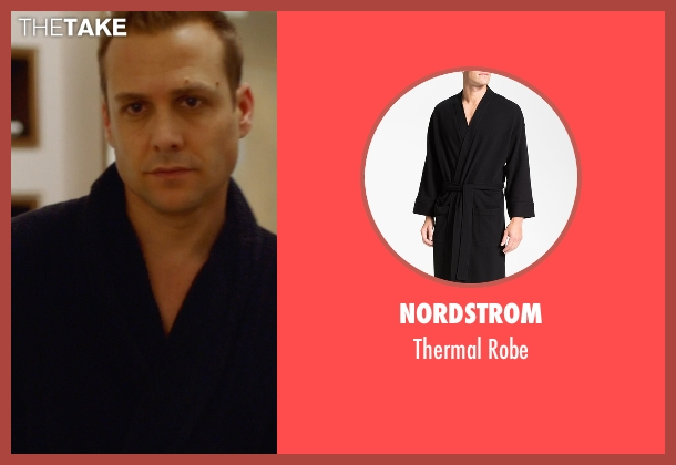 Nordstrom black robe from Suits seen with Harvey Specter (Gabriel Macht)