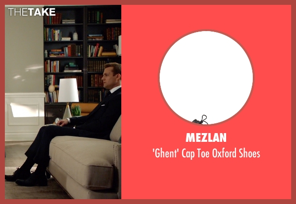 Mezlan black shoes from Suits seen with Harvey Specter (Gabriel Macht)