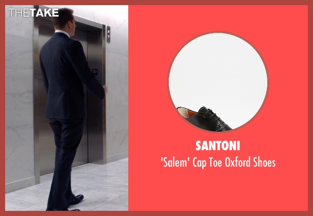 Santoni black shoes from Suits seen with Harvey Specter (Gabriel Macht)