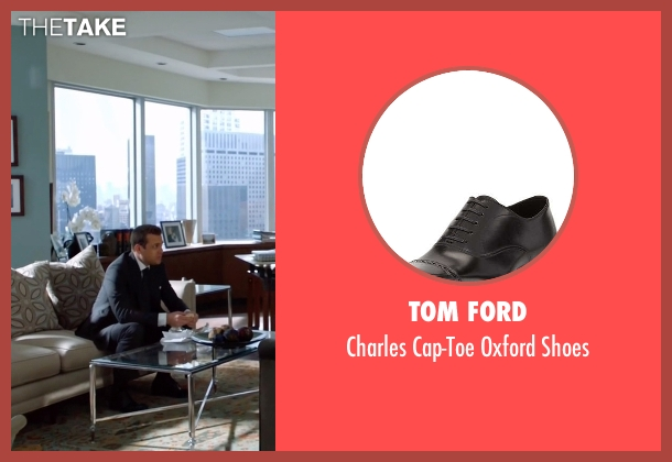 Tom Ford black shoes from Suits seen with Harvey Specter (Gabriel Macht)