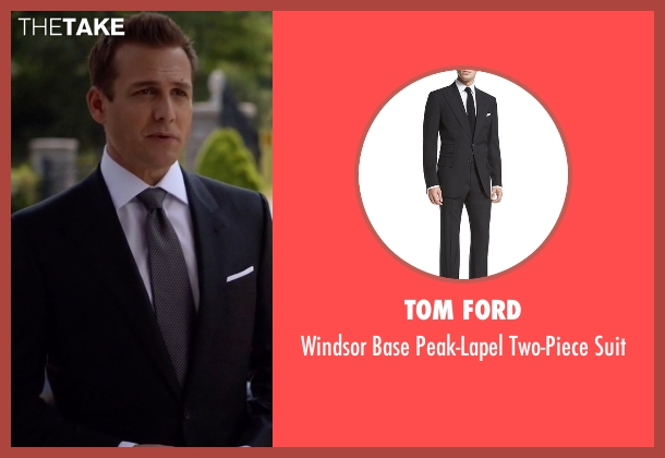 Tom Ford black suit from Suits seen with Harvey Specter (Gabriel Macht)