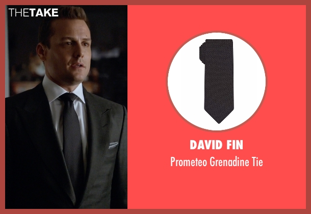 Calvin Klein black tie from Suits seen with Harvey Specter (Gabriel Macht)