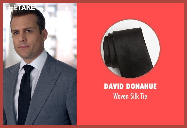David Donahue black tie from Suits seen with Harvey Specter (Gabriel Macht)