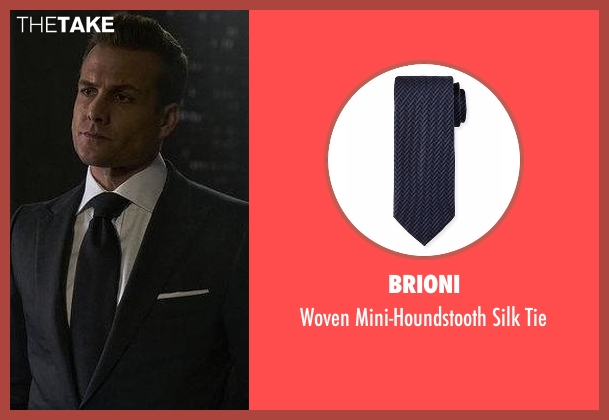 Lanvin black tie from Suits seen with Harvey Specter (Gabriel Macht)