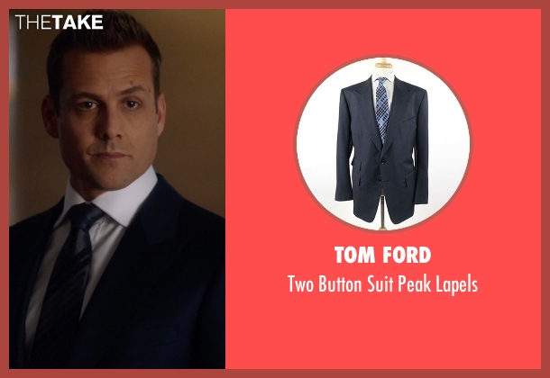 Tom Ford blue lapels from Suits seen with Harvey Specter (Gabriel Macht)