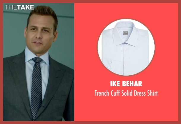Ike Behar blue shirt from Suits seen with Harvey Specter (Gabriel Macht)