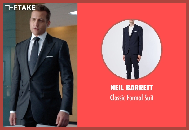 Neil Barrett blue suit from Suits seen with Harvey Specter (Gabriel Macht)