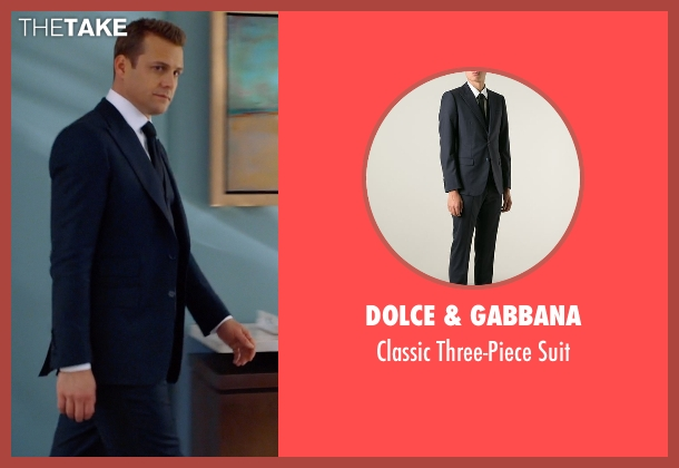 Dolce & Gabbana blue suit from Suits seen with Harvey Specter (Gabriel Macht)