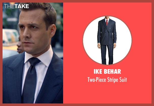 Ike Behar blue suit from Suits seen with Harvey Specter (Gabriel Macht)