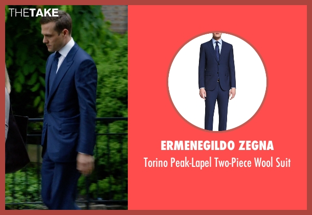 Ermenegildo Zegna blue suit from Suits seen with Harvey Specter (Gabriel Macht)
