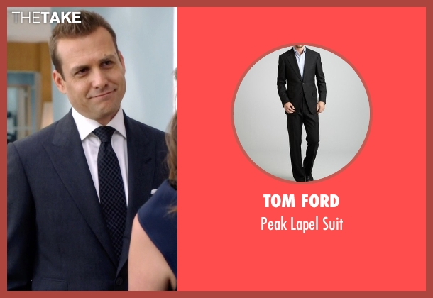 Tom Ford blue suit from Suits seen with Harvey Specter (Gabriel Macht)