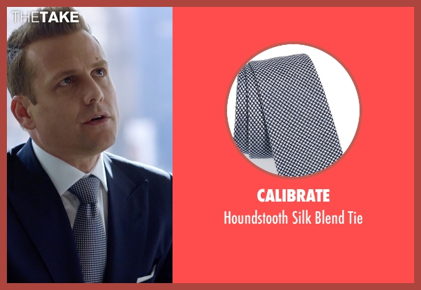 Calibrate blue tie from Suits seen with Harvey Specter (Gabriel Macht)