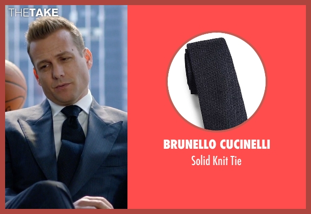 Brunello Cucinelli blue tie from Suits seen with Harvey Specter (Gabriel Macht)