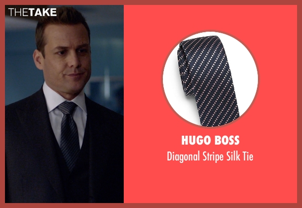 Hugo Boss blue tie from Suits seen with Harvey Specter (Gabriel Macht)