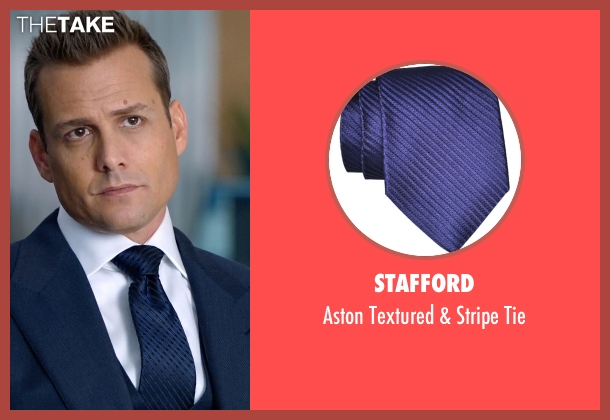 Stafford blue tie from Suits seen with Harvey Specter (Gabriel Macht)