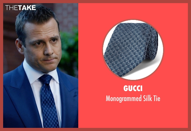 Gucci blue tie from Suits seen with Harvey Specter (Gabriel Macht)