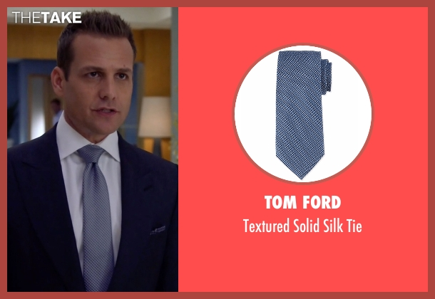 Tom Ford blue tie from Suits seen with Harvey Specter (Gabriel Macht)