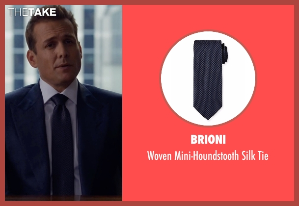 Brioni blue tie from Suits seen with Harvey Specter (Gabriel Macht)
