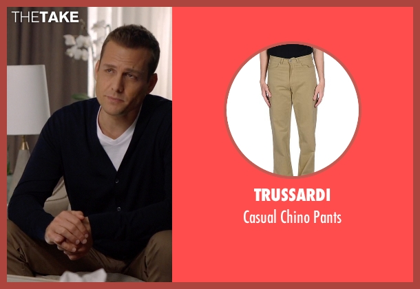 Trussardi brown pants from Suits seen with Harvey Specter (Gabriel Macht)