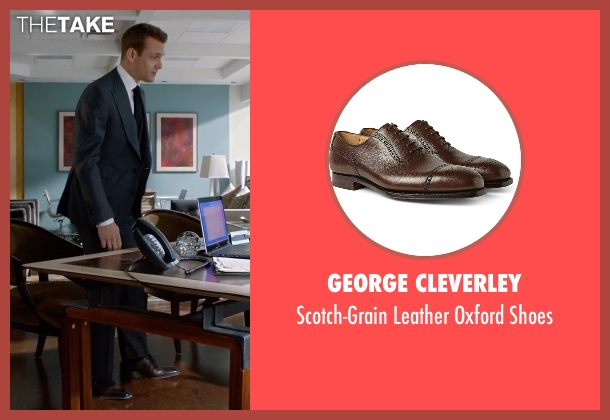 George Cleverley brown shoes from Suits seen with Harvey Specter (Gabriel Macht)