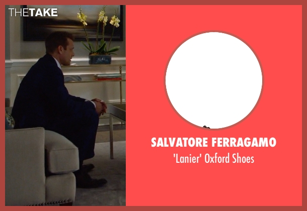 Salvatore Ferragamo brown shoes from Suits seen with Harvey Specter (Gabriel Macht)