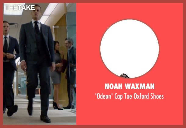 Noah Waxman brown shoes from Suits seen with Harvey Specter (Gabriel Macht)