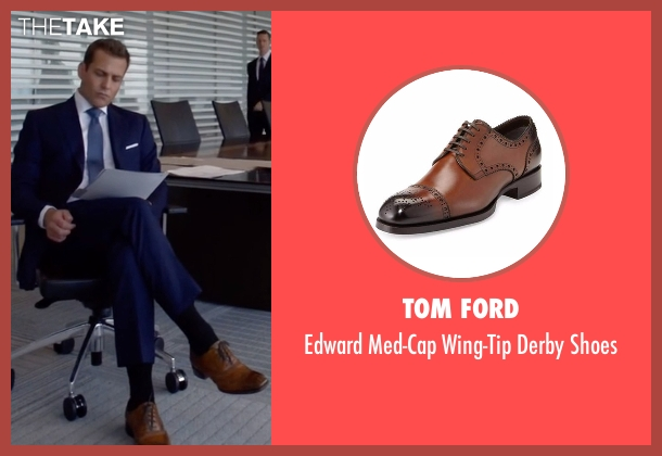 Tom Ford brown shoes from Suits seen with Harvey Specter (Gabriel Macht)