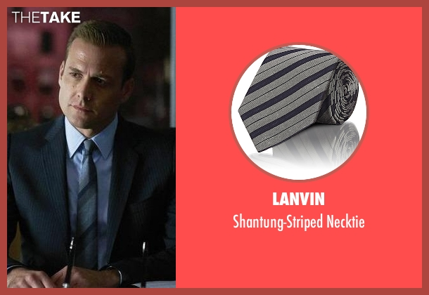 Lanvin gray necktie from Suits seen with Harvey Specter (Gabriel Macht)