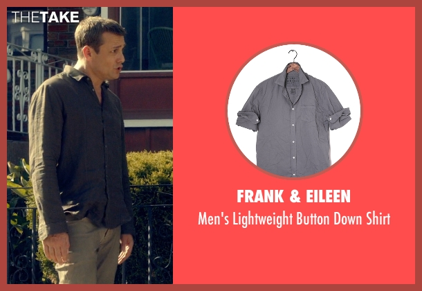 Frank & Eileen gray shirt from Suits seen with Harvey Specter (Gabriel Macht)