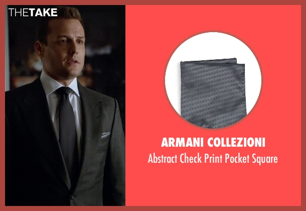 Armani Collezioni gray square from Suits seen with Harvey Specter (Gabriel Macht)