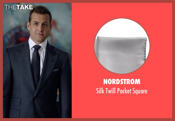 Nordstrom gray square from Suits seen with Harvey Specter (Gabriel Macht)