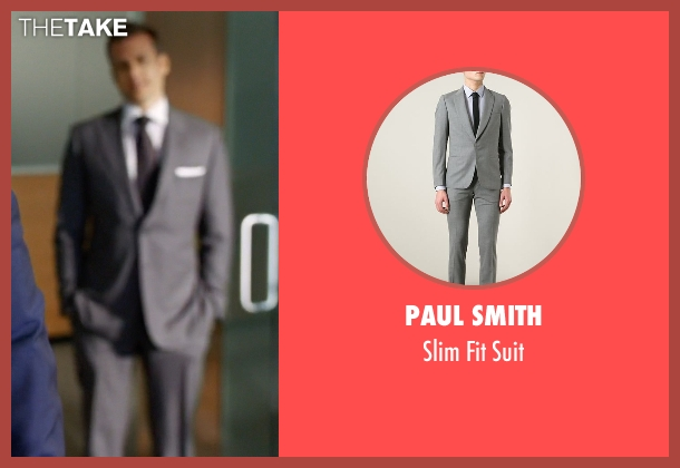 Paul Smith gray suit from Suits seen with Harvey Specter (Gabriel Macht)