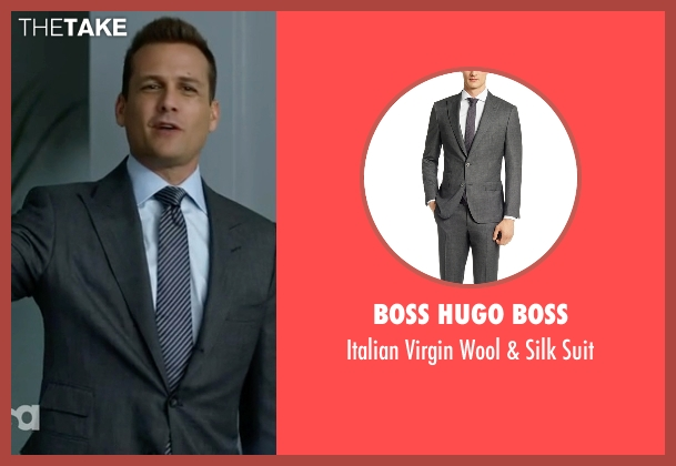 Boss Hugo Boss gray suit from Suits seen with Harvey Specter (Gabriel Macht)